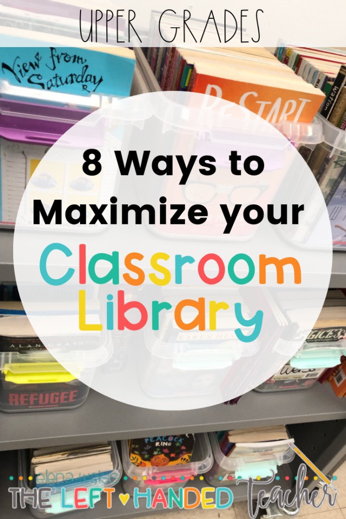 Upper Grades Teachers! Maximize Your Classroom Library with these 8 tips!