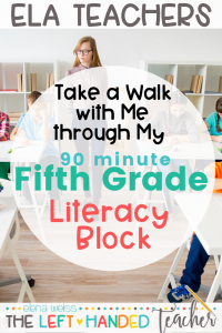 My 90 Minute Literacy Block