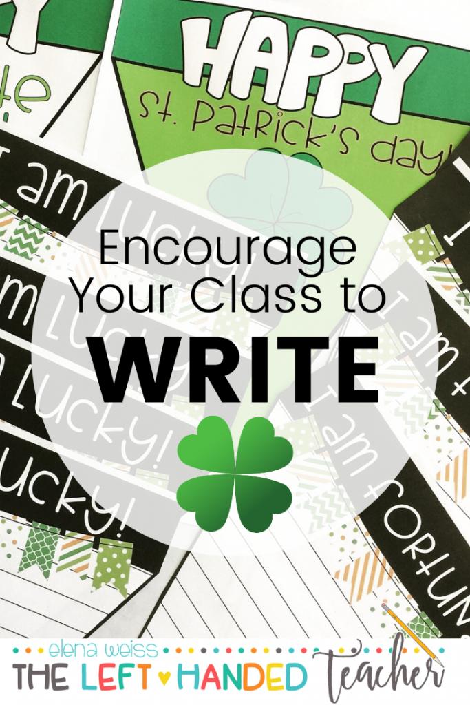 Saint Patrick's day Writing Activity