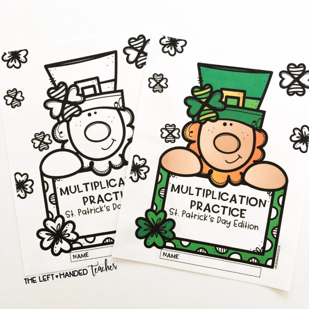 Saint Patrick's Day Themed Multiplication
