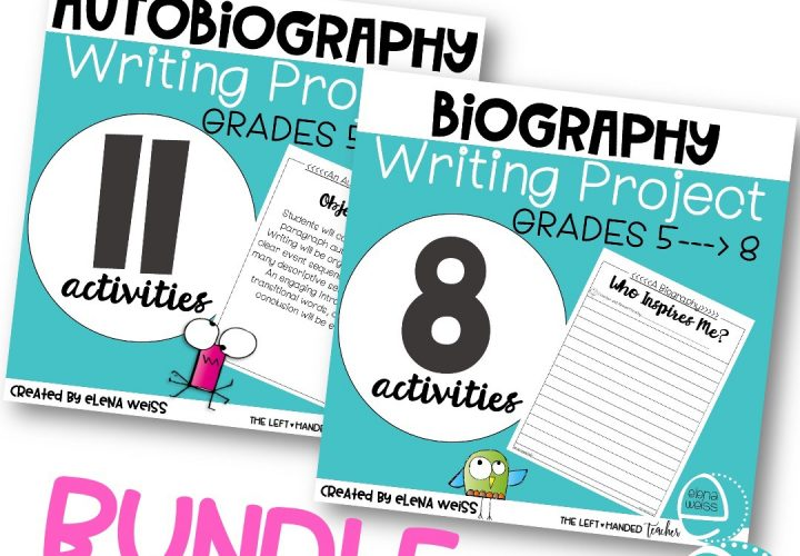 Writing Project Bundle on TpT